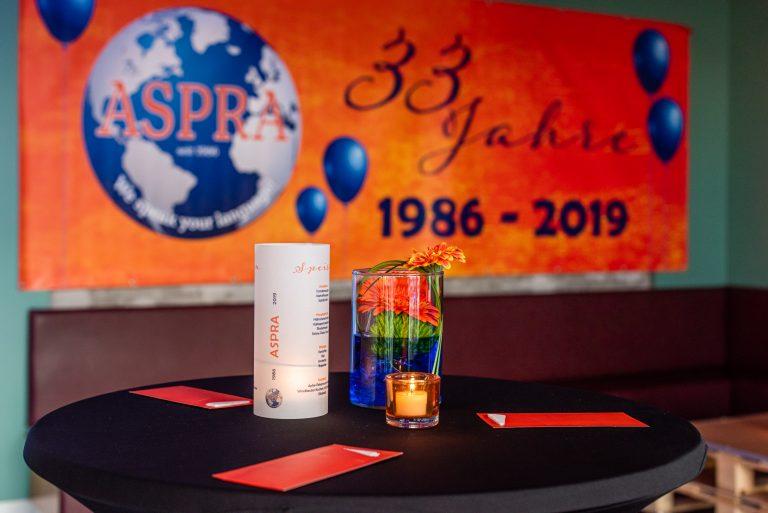 ASPRA - 33 Jahre Feier (1986-2019) am 17.05.2019 in der Werksküche in Frankfurt am Main.